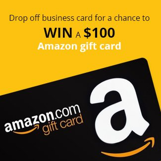 Drop by our booth and you could win $100 AMAZON GIFT CARD!!