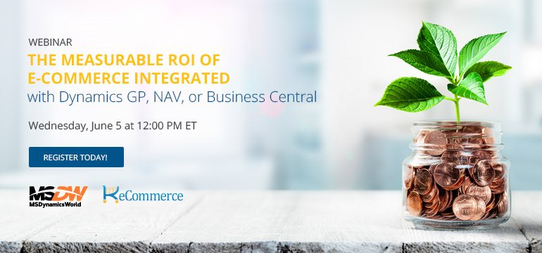 The measurable ROI of E-Commerce Integrated with Dynamics NAV and Business Central